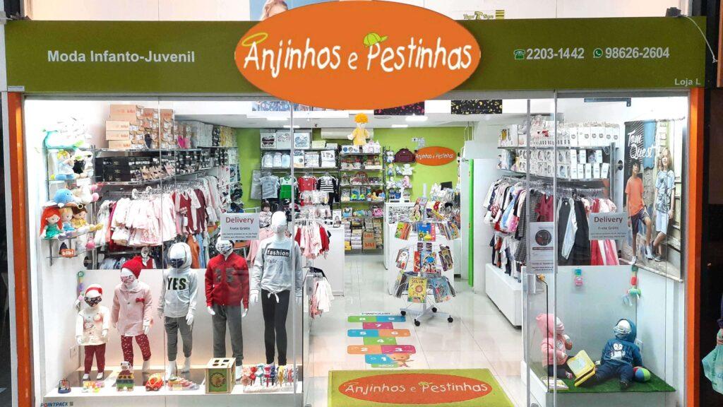 Fachada da loja Anjinhos e Pestinhas