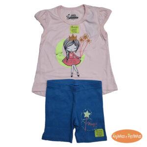Pijama com estampa que brilha no escuro
